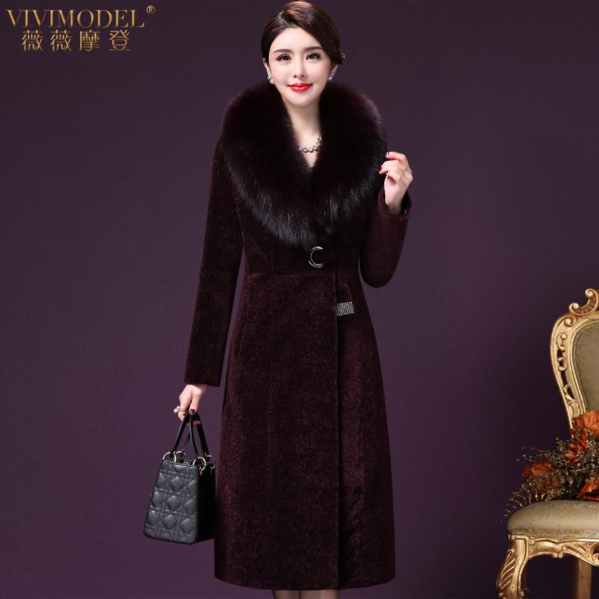 Áo khoác lông cáo lông cừu thật xù lông giữa mùa đông 2018 dành cho nữ - Faux Fur