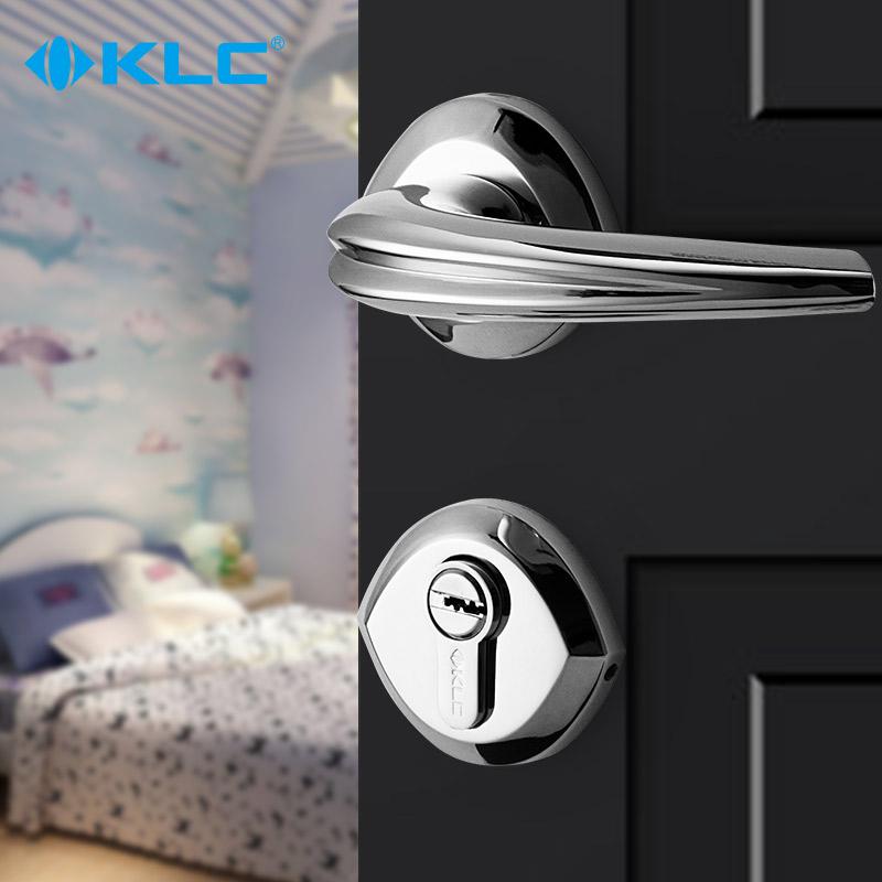 KLC 室内门锁欧式卧室实木房门锁卫生间锁具把手