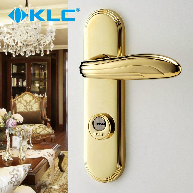KLC 金色室内门锁房门执手锁具 厨房卫生间卧室门锁 巴比伦