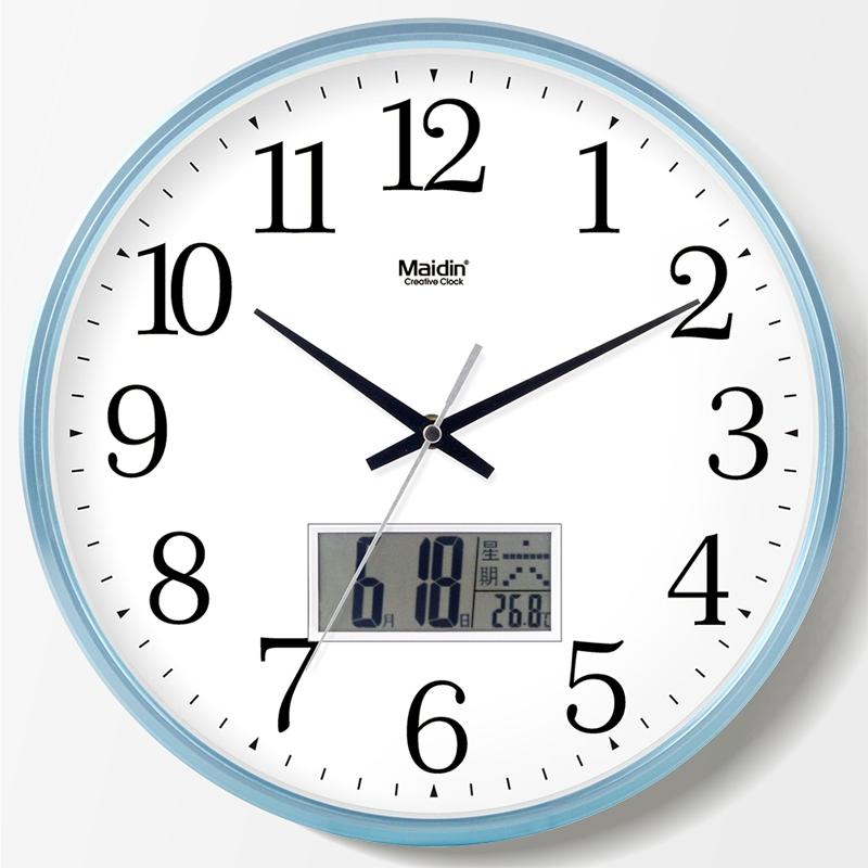 Living Room Wall Clock Clock Bedroom Clock Office Wall Clock Mute Nordic  Creative Wall Chart Simple Perpetual Calendar Quartz Clock