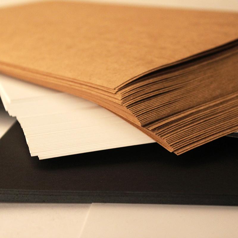 A3 A4 white card black card kraft paper business card thick hand art ...