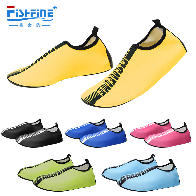 57fef5432f04 FISHFINE men and women adult beach upstream non-slip diving wading soft  bottom quick-drying shoes children swimming snorkeling shoes