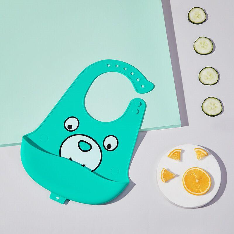 澳乐宝宝硅胶围兜婴幼儿防水吃饭围嘴喂食饭兜儿童小孩超软口水兜
