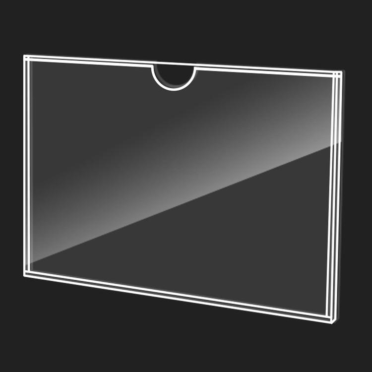 亚克力卡槽a4插盒定制5寸单双层插纸透明标签展示盒亚克力板挂墙