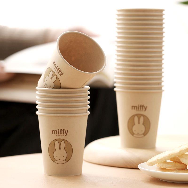 茶花一次性杯子纸杯家用加厚水杯