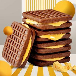 三种口味巧克力芝士夹心饼干106g