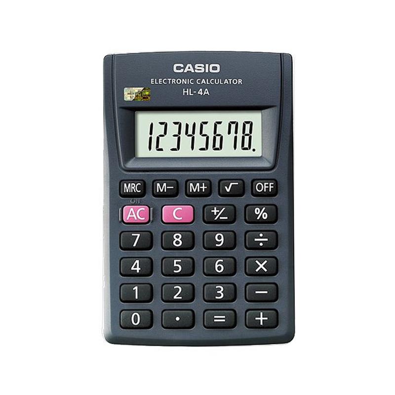 CASIO卡西欧SL-300NC 亮彩四色 随身便携8位数卡片式迷你彩色计算器