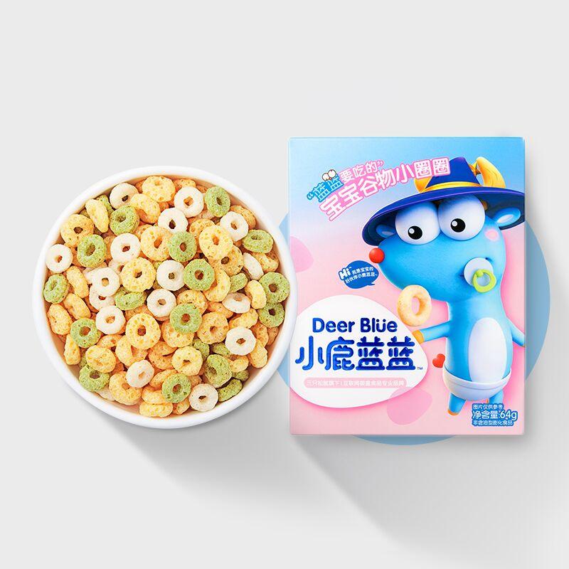 【小鹿蓝蓝_宝宝谷物圈】宝宝零食儿童无添加盐送8月婴幼儿辅食谱