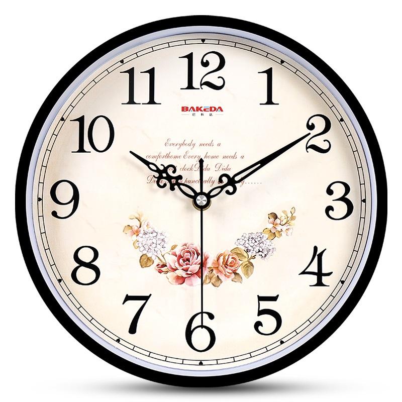 钟表挂钟客厅现代圆形简约时钟家用静音创意时尚挂表电子石英钟天猫超市优惠券照片