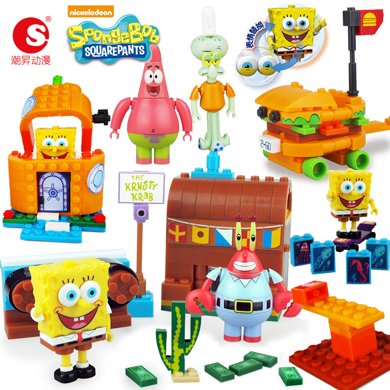 Best Spongebob Toys For Kids : Usd spongebob building blocks toys creative
