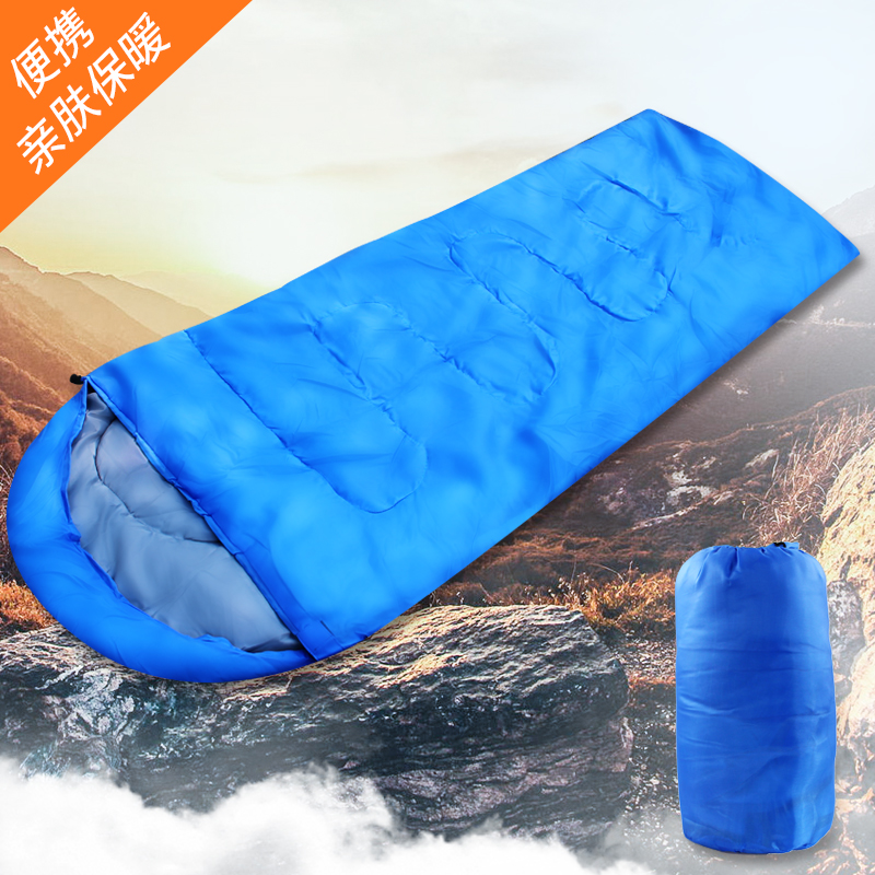 Sleeping bag adult spring and summer outdoor autumn and winter Four Seasons warm indoor camping single dirty cotton sleeping bag travel office