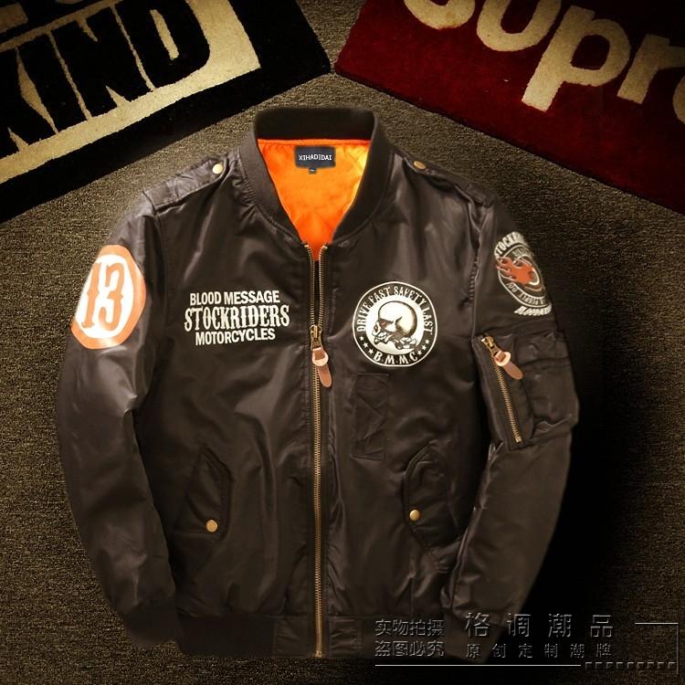 Nhật bản Harajuku retro men in ấn MA1 pilot áo khoác vài triều thương hiệu nam giới và phụ nữ xe máy đồng phục bóng chày áo khoác