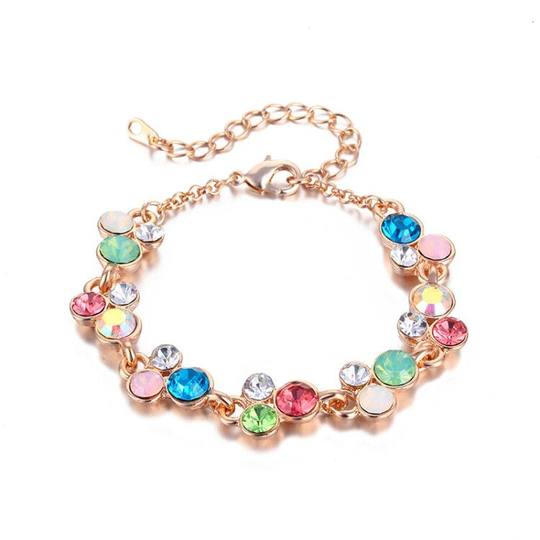 Hundreds of rose gold four-leaf bracelet ladies crystal Korean multi-storey fashion girlfriends students fresh and simple