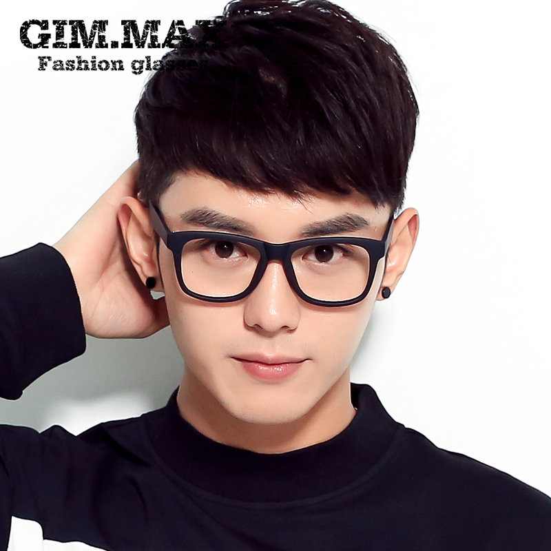 b2fc38327c Retro black-rimmed glasses male full-frame myopia frames without lenses  flat mirror female Korean version of the big face anti-radiation glasses