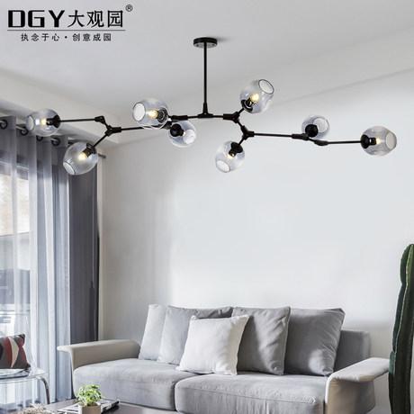 DGY大观园灯饰树枝分子吊灯 铁艺艺术枝型吊灯