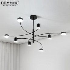 Nordic modern art creative living room chandelier ceiling lantern atmospheric personality simple dining room bedroom LED lamps