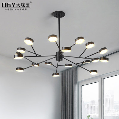 Modern minimalist art creative living room chandelier atmospheric personality Nordic minimalist dining room bedroom LED lamps