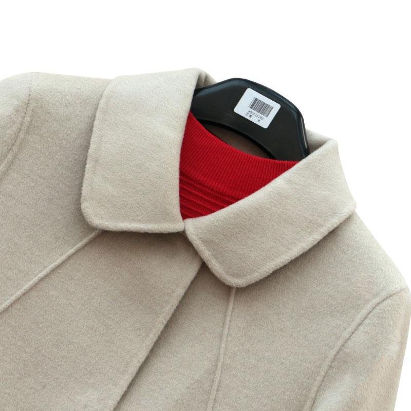 Mùa xuân và mùa thu tự làm áo khoác cashmere hai mặt cho phụ nữ áo khoác len của mẹ đầm dài giữa khí chất mỏng cao cấp phong cách mới - Trung bình và dài Coat