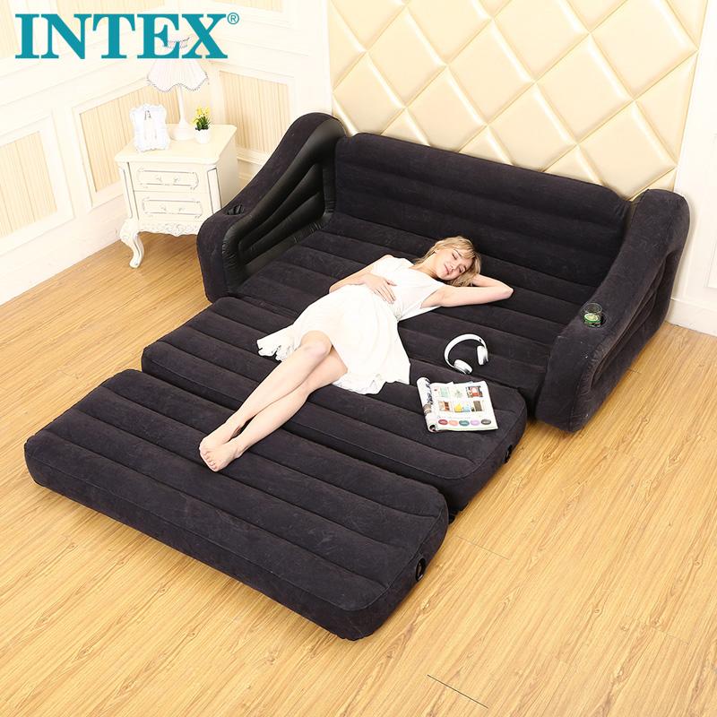 INTEX бездельник газированный диван - кровать моно,парный человек сложить диван - кровать снисходительность для взрослых диван балкон полдень остальные шезлонг