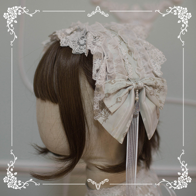 taobao agent 【Spot goods】NyaNya Sixteen Nights Ode Lolita Original Hairband KC Side Clip Necklace Small Collection