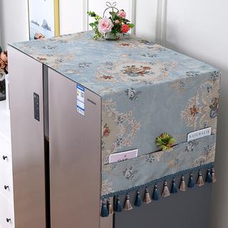 Скатерти,  Ткань холодильник обложка тканевая список открытых для двойная дверь холодильник покрытия пылезащитный чехол полотенце интенсивный континентальный пылезащитный чехол крышка домой, цена 969 руб