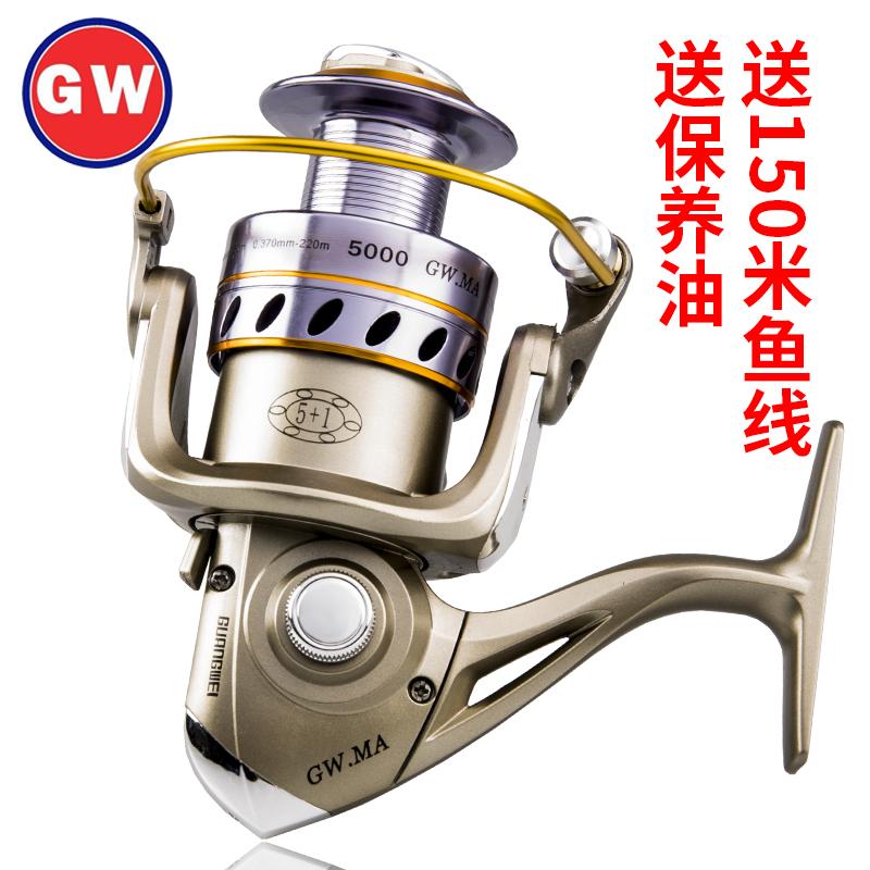 光威渔轮全金属头鱼轮远投纺车轮海杆轮路亚竿鱼线轮渔具钓鱼轮
