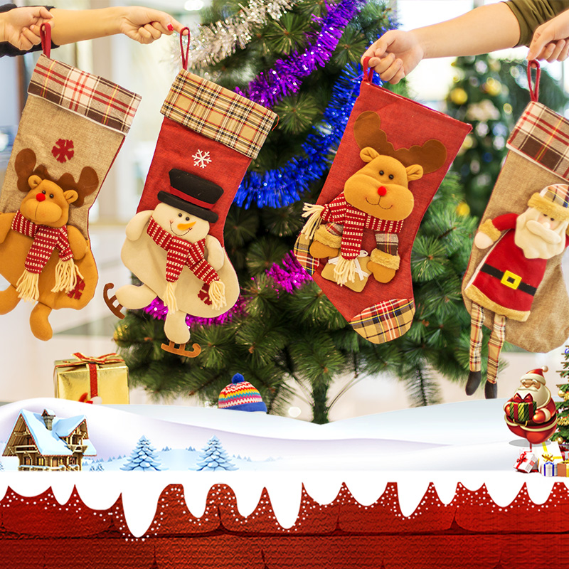 christmas decorations socks gift bag children small gifts wholesale toy bag elderly pocket dress up wholesale - Wholesale Christmas Decorations