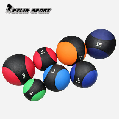Solid rubber medicine ball agility exercise waist and abdomen training gravity ball core fitness ball Medicine Ball