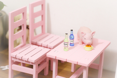 taobao agent 【68 free shipping】bjd baby with blythe cloth 6 points 8 points 12 points photo props doll house accessories table and chair