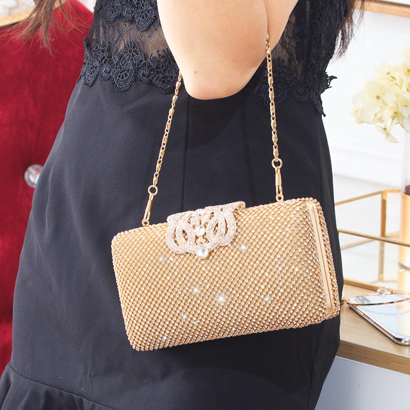 b5156cb4fb49 Сумка клатч сумка корейской версии алмазная сумка 2018 новая невеста  свадебное платье дикий вечернее платье банкетная