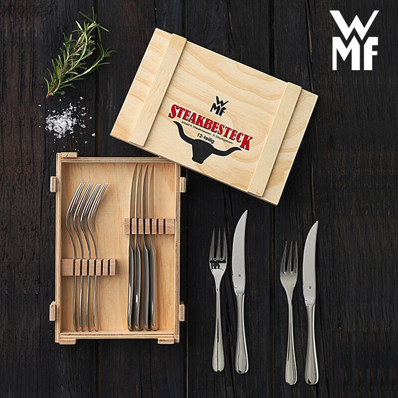 顶级餐具!WMF 福腾宝 牛排刀叉餐具套装 12件套