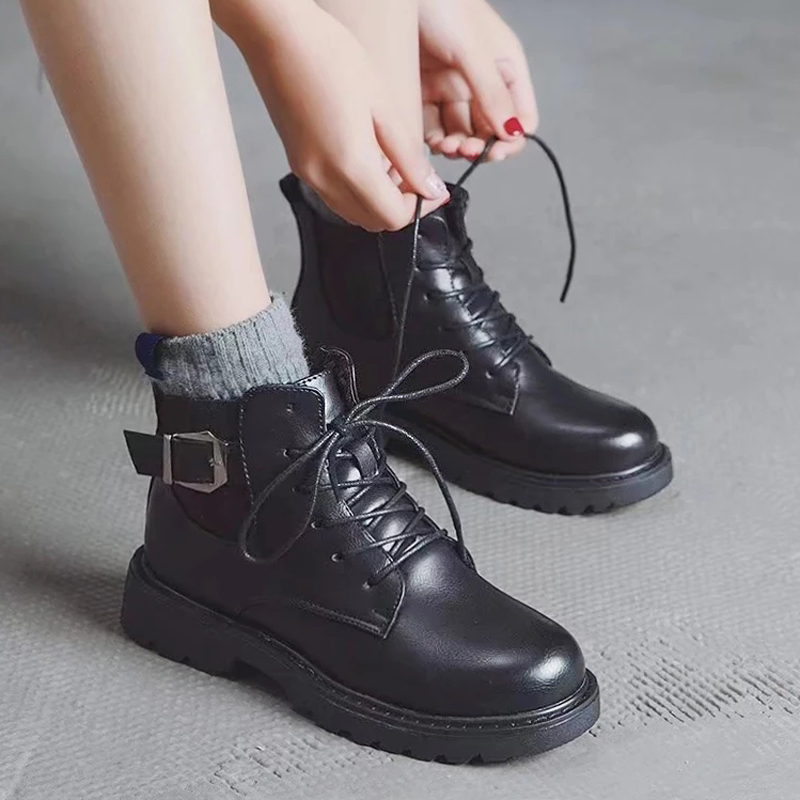 Chic Martin boots female 2018 new British wind students Korean version of the wild ins women's boots spring and autumn short boots winter
