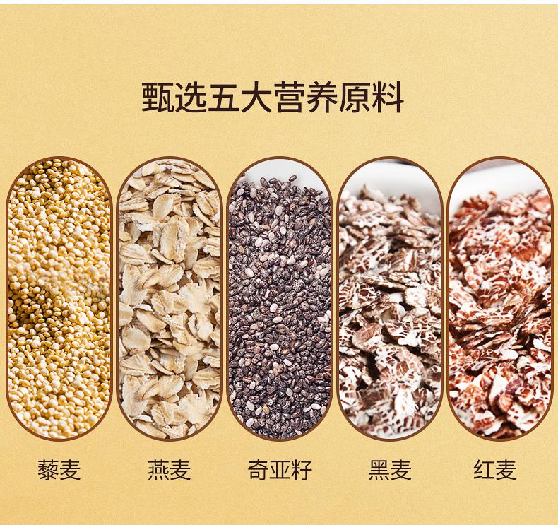 买送杂粮先生奇亚籽藜麦谷物燕麦片早餐营养混合冲泡饮料饱腹食品详细照片