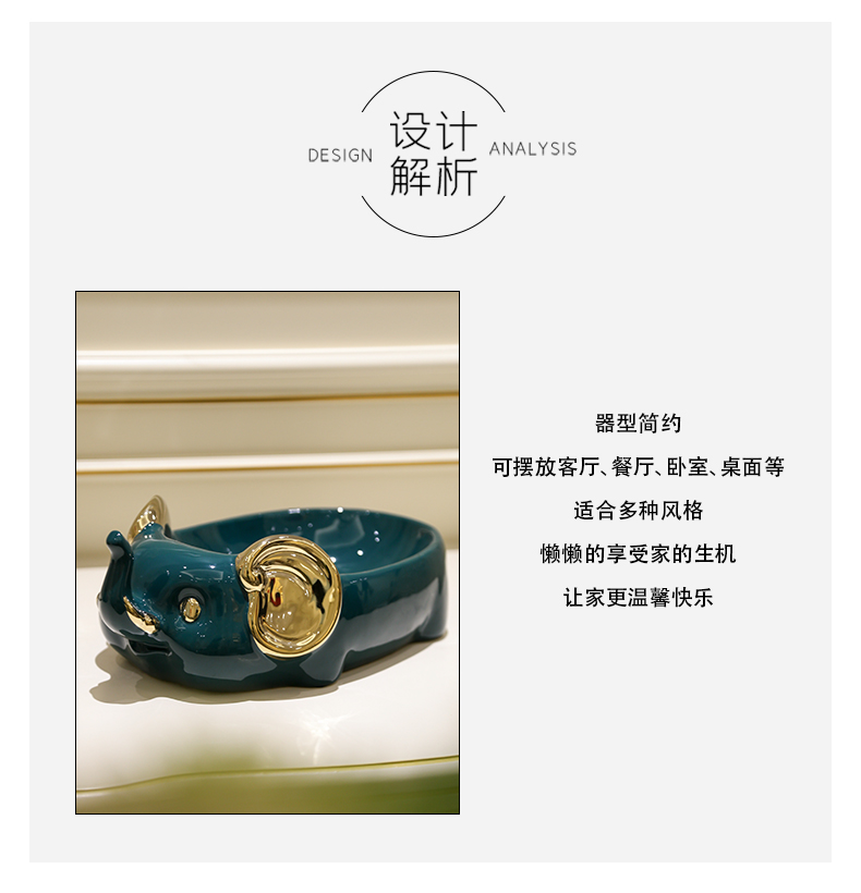 Light and decoration ceramics furnishing articles plutus cat sitting room to receive piggy bank key remote control household act the role ofing is tasted the desktop decoration