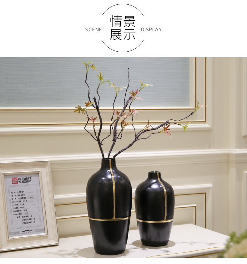 Light the key-2 luxury of modern dry flower vases, flower arrangement sitting room between example table ceramic flowers, floral decorations household act the role ofing is tasted