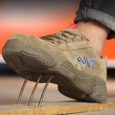 劳保鞋男钢包头防砸防刺穿电焊工作鞋软底防滑耐磨透气绝缘防护鞋