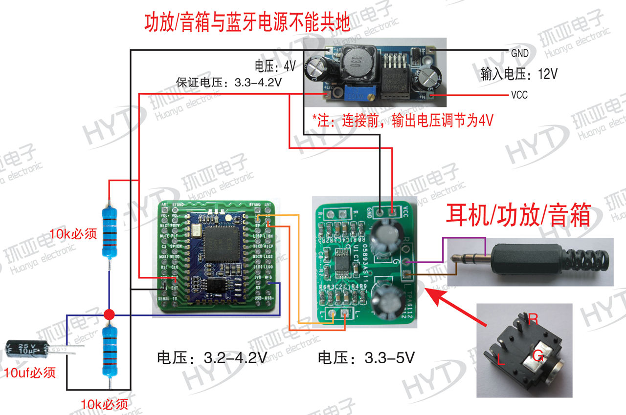 bluetooth module mono audio master bluetooth 4 0 module csr8615 3.5Mm Jack Wiring Diagram bluetooth headset wiring diagram