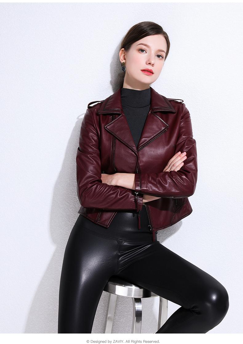 European and American fashion 2020 spring and autumn new Henning sheepskin bodysuit jacket jacket leather woman 51 Online shopping Bangladesh