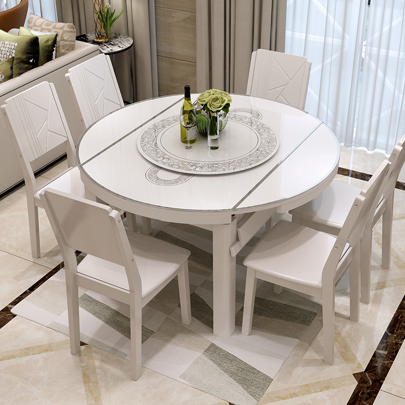 ... Dining Table Multifunctional Retractable Folding Small. Zoom · Lightbox  Moreview · Lightbox Moreview ...