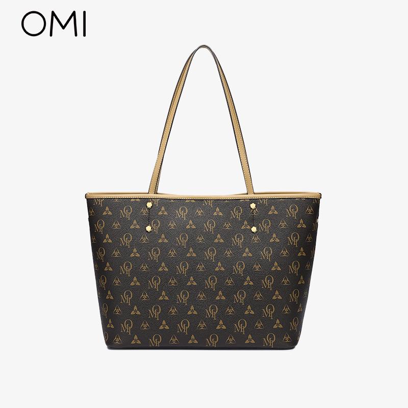 欧米OMI包包女夏2021新款时尚托特包大容量小众高级感手提单肩包