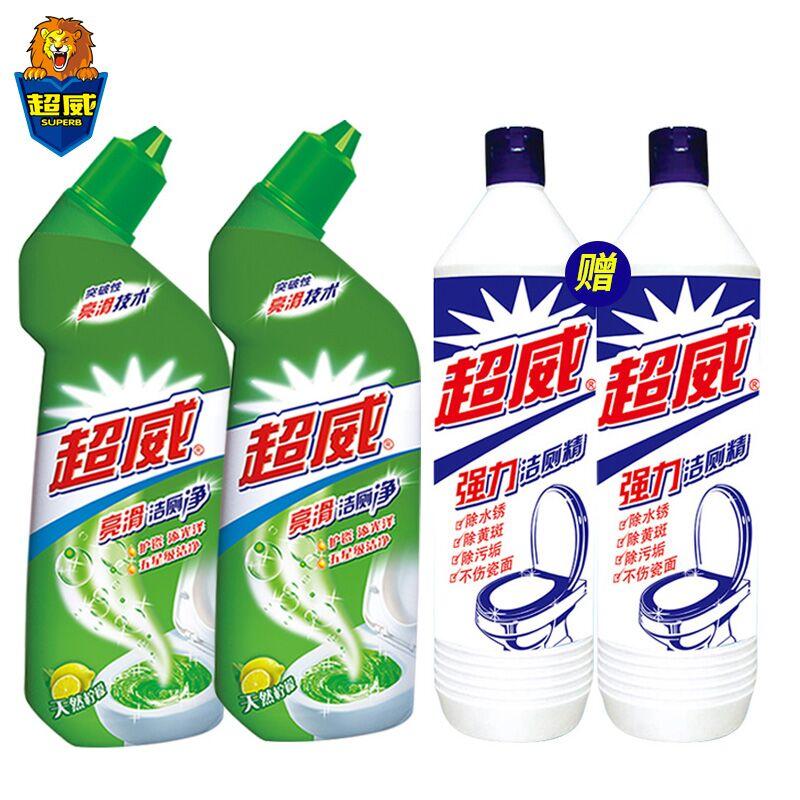 【超威】清洁剂家用洁厕液4瓶