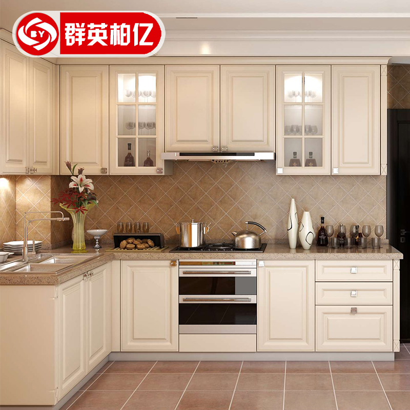 Chengdu continental overall cabinet custom modern simple small apartment kitchen cabinets custom economy kitchen cabinet & USD 666.79] Chengdu continental overall cabinet custom modern simple ...