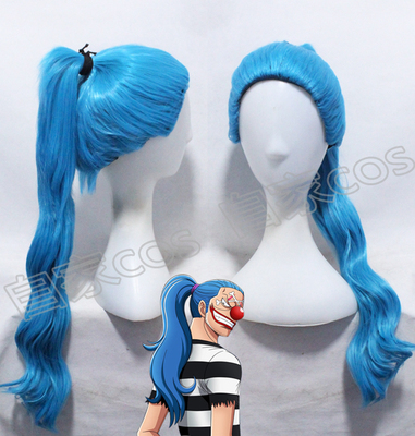 taobao agent Anime Wig COSPLAY One Piece COS Clown Bucky Senliang Clown Red Nose Blue Custom Fake Hair