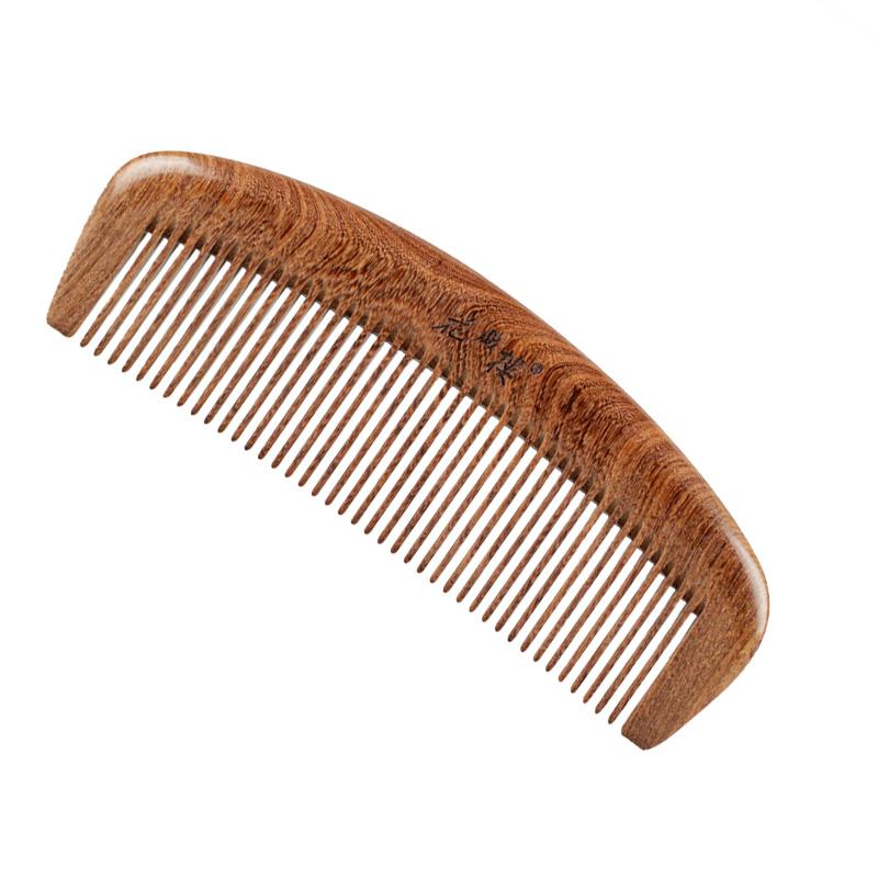 天然金丝檀木头梳子木梳 防静电直发卷发梳子 定制刻字礼品梳