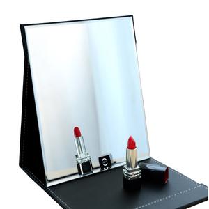 便携折叠镜子大号梳妆镜翻盖式学生台式化妆镜小宿舍简约桌面男女