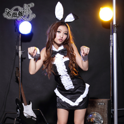 Sexy bunny girl nightclub theme uniform stage costume temptation womens photo DS610 Siwei Ni