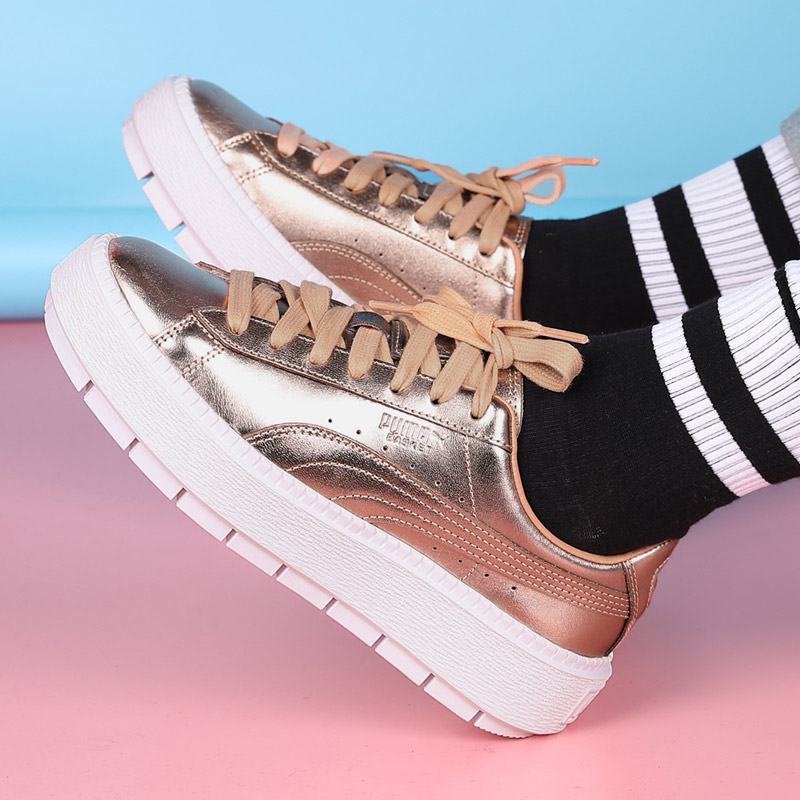 PUMA Hummer women s shoes 2018 winter new Rihanna platform shoes thick  platform gold standard sports and leisure shoes 367980 961af6311
