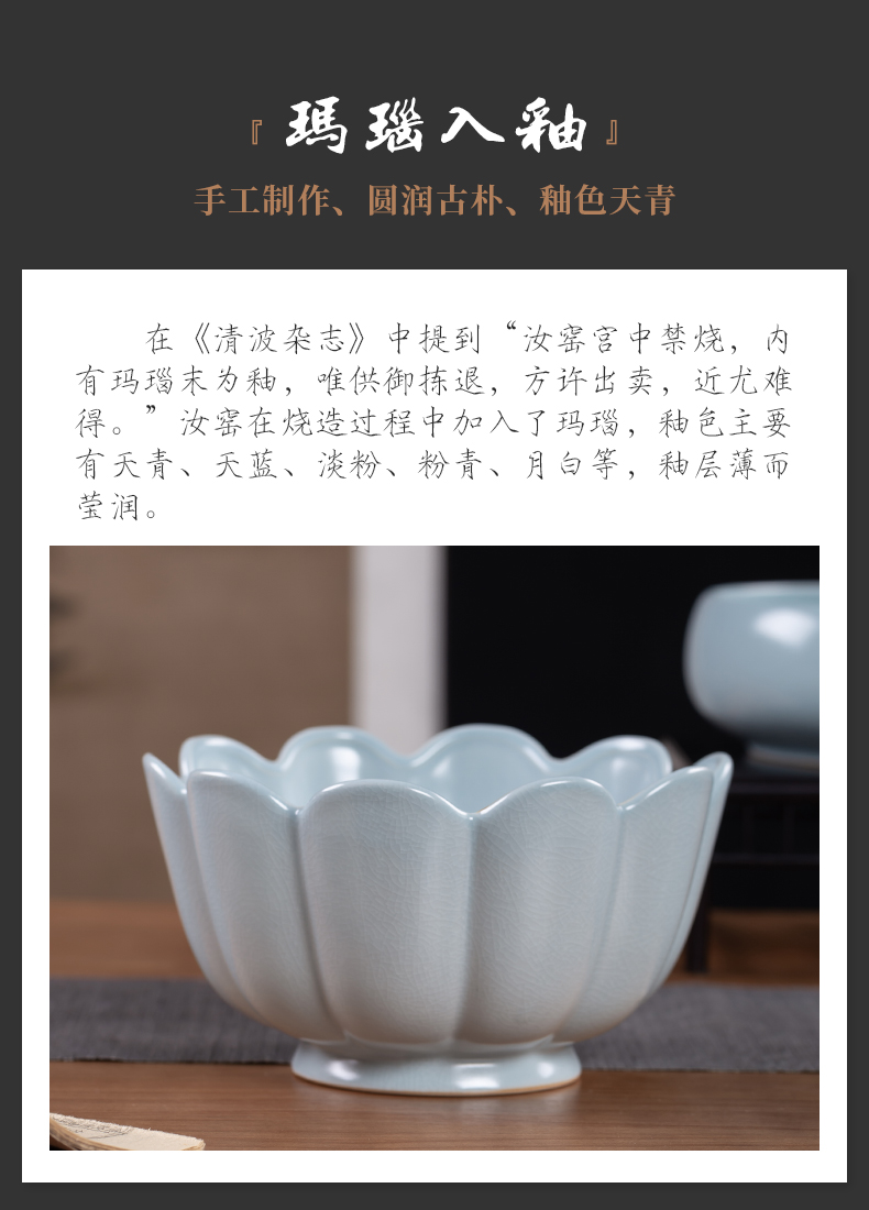 Wash bath, your up large tea ice crack ceramic kung fu tea tea with parts water jar is writing brush washer