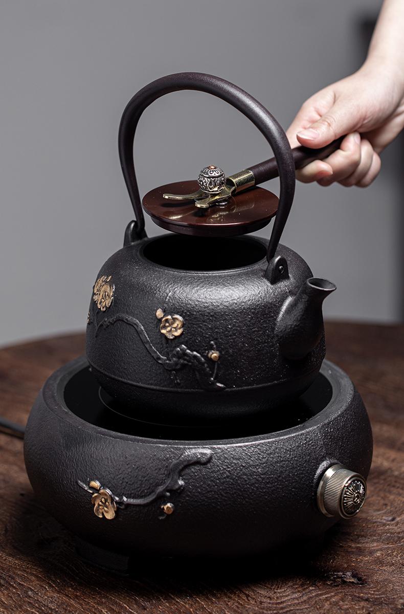 Iron pot of special cast Iron tea kettle TaoLu boiled tea machine manual imitation Japan Iron kettle boiling kettle suits for