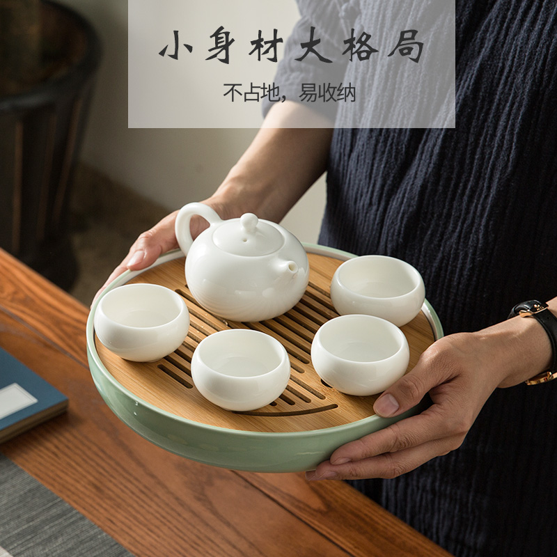Tools Dinnerware Pad Tray Bamboo Tea Set Vase Tray Home Storage Tray Bonsai Flower Pots Tray Garden Table Decoration Supplies Strong Resistance To Heat And Hard Wearing